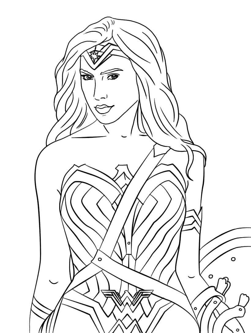 Wonder Woman 1984 Coloring Pages