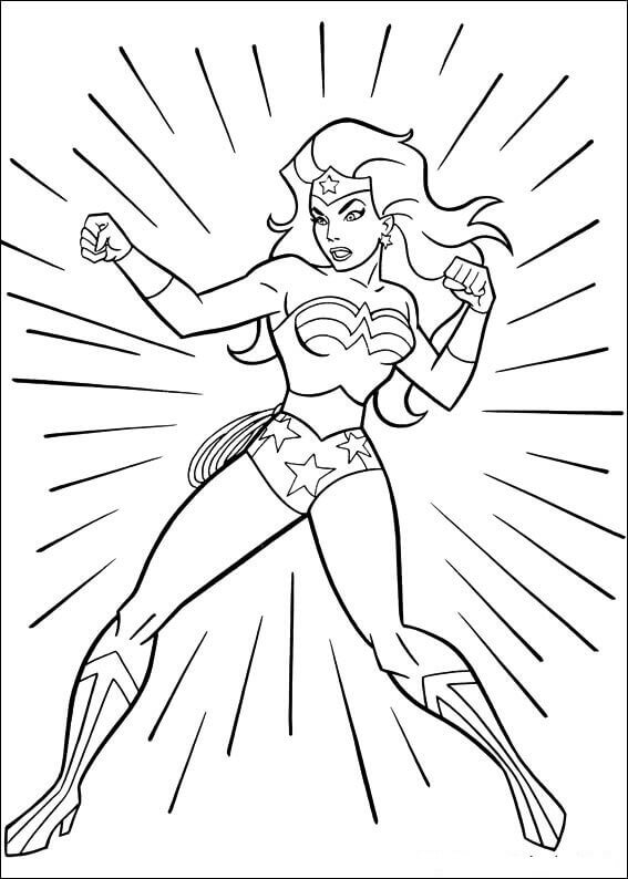 Wonder Woman Coloring Sheets