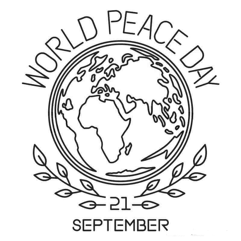 World Peace Day September Coloring Pages