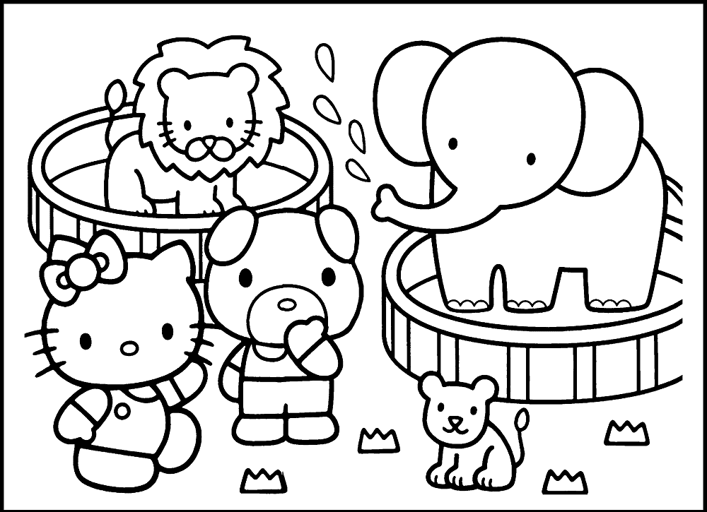 Zoo Animal Coloring Pictures For Preschoolers