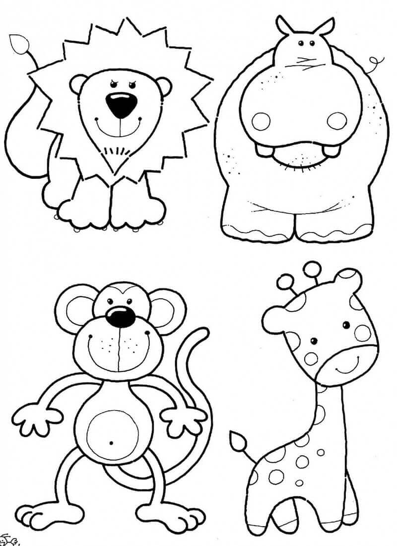 Zoo Colouring Pages For Kindergarteners
