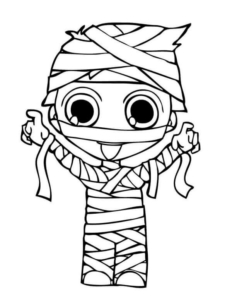 Baby Mummy Coloring Page