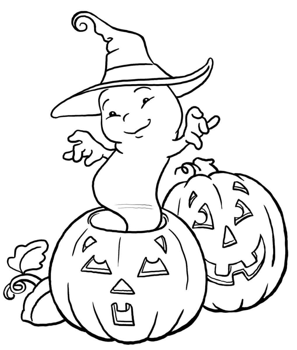 30 Free Printable Ghost Coloring Pages (Halloween Ghost Coloring ...