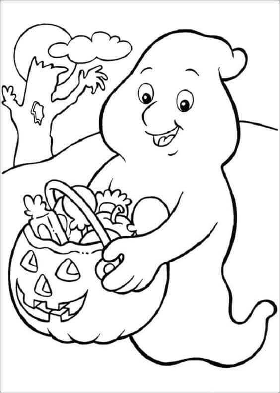 Cute Halloween Coloring Pages To Print