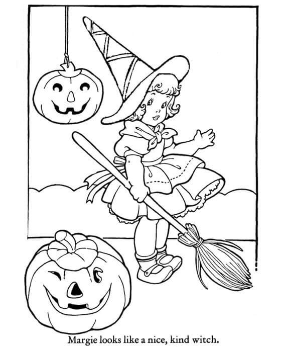 Cute Halloween Coloring Pictures To Print