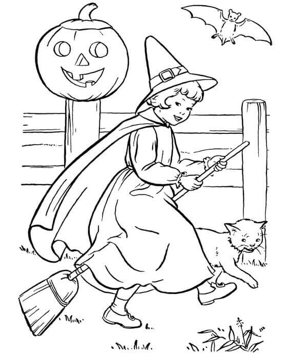 Cute Halloween Coloring Pictures