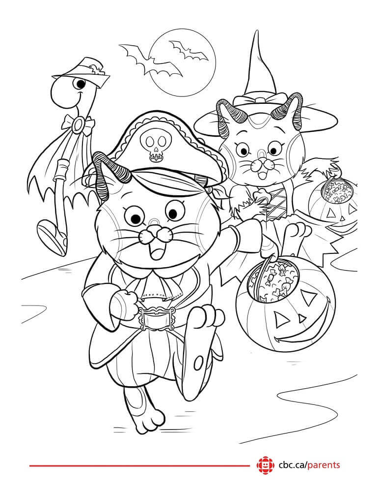 Cute Halloween Coloring Printable For Kids
