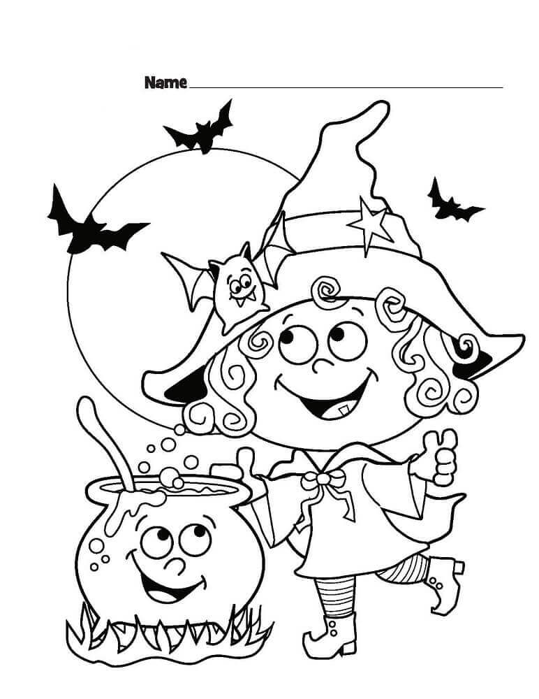 Cute Halloween Coloring Sheets Printable