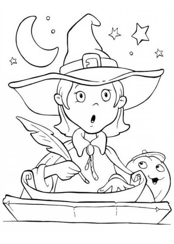 Cute Halloween Coloring Sheets