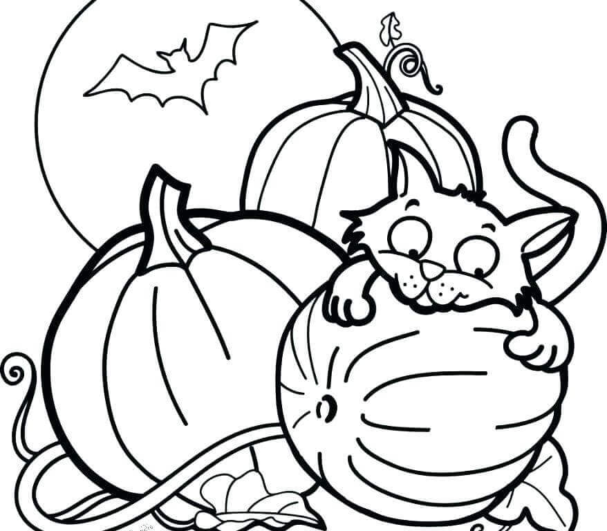 kawaii halloween coloring pages - photo#38