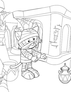 Cute Mummy Coloring Pages