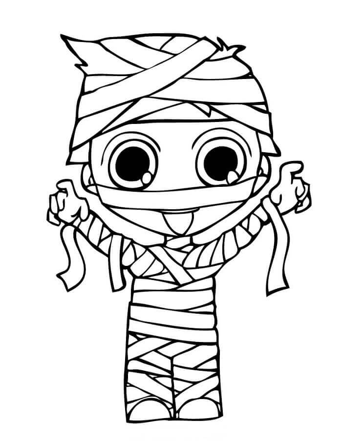 30 Cute Halloween Coloring Pages For Kids - ScribbleFun