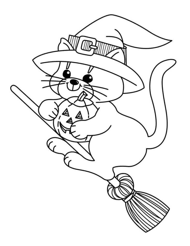 Cute Witch Coloring Pages Halloween