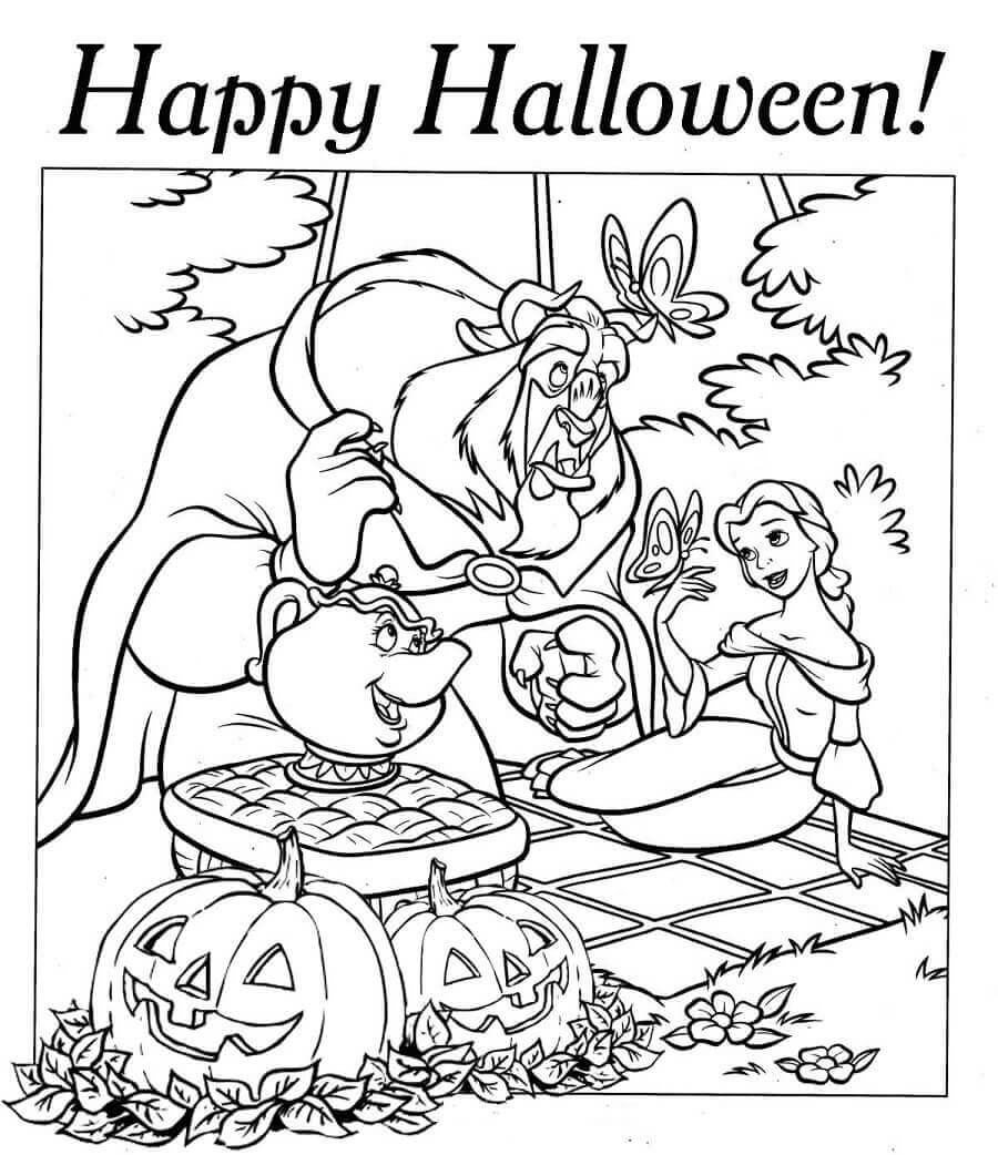 30 Free Printable Disney Halloween Coloring Pages