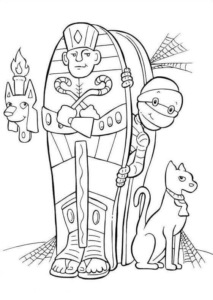 Egyptian Mummy Pictures To Color
