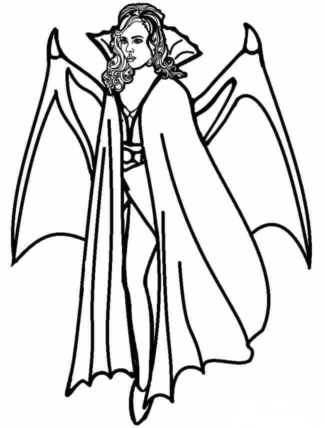 Female Vampire Coloring Pages