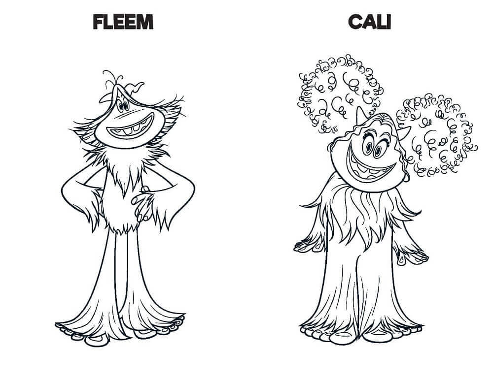 Fleem And Cali Smallfoot Movie Coloring Images