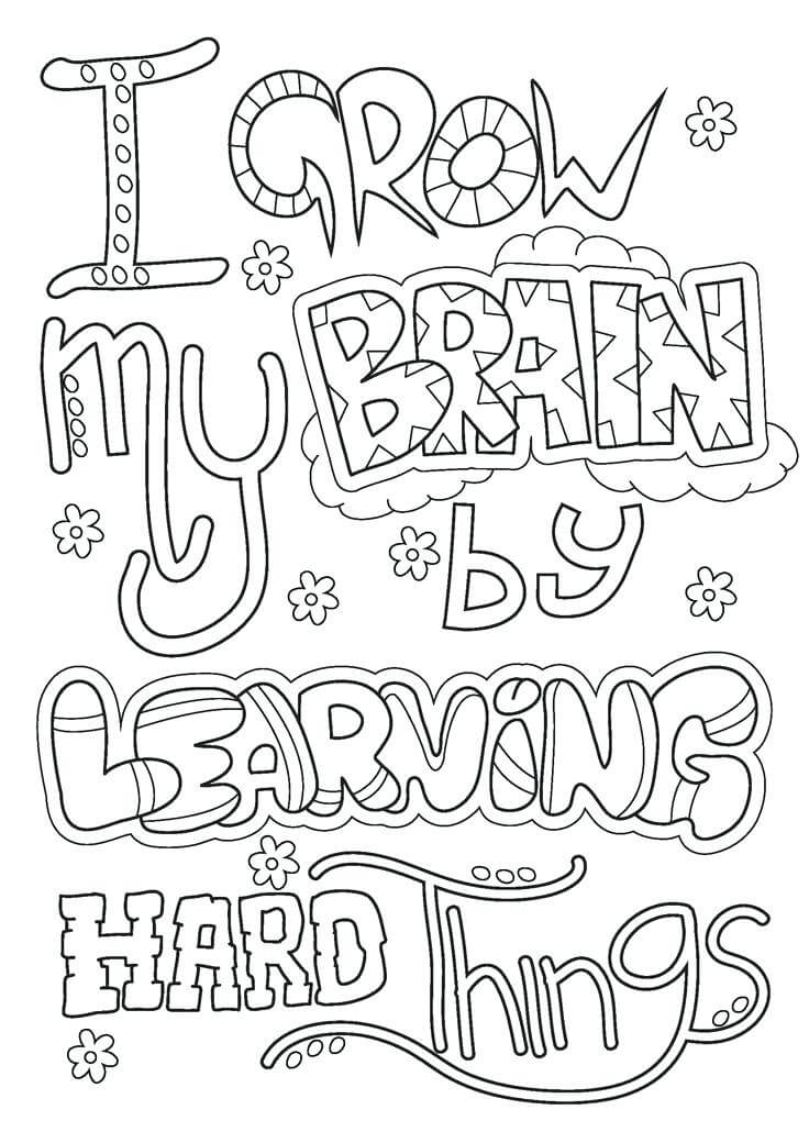 Free Growth Mindset Coloring Pages PDF