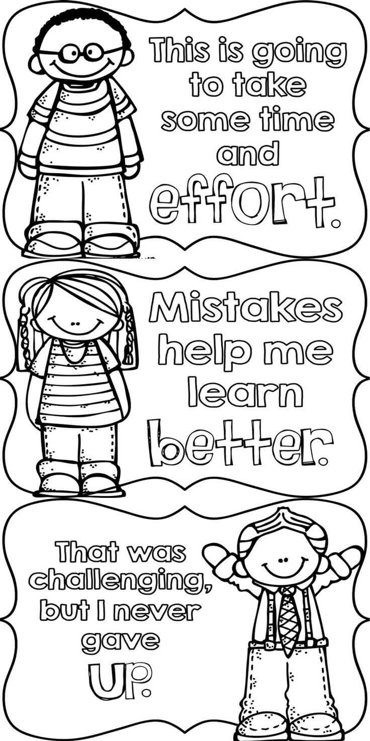 Free Growth Mindset Coloring Sheet