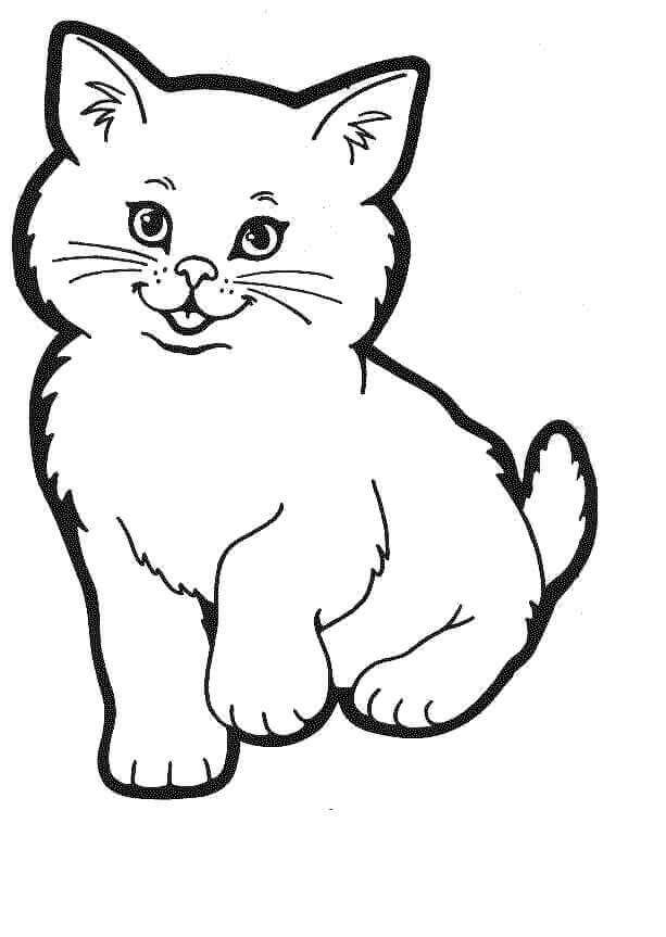 Free October Coloring Pages Printable National Cat Day