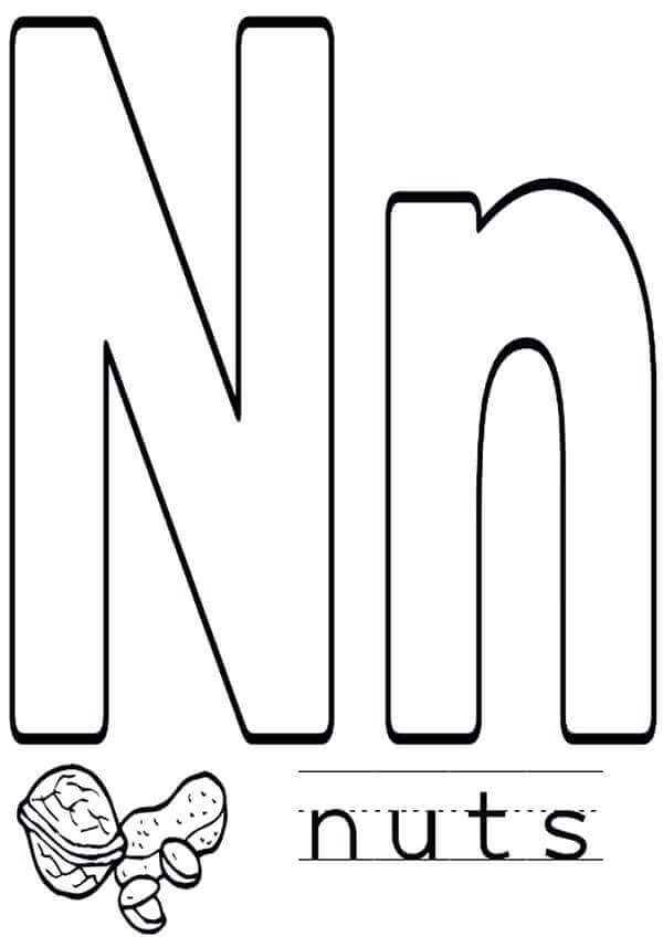Free October Coloring Pages To Print National Nut Day