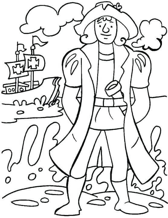 Free Printable Christopher Columbus Coloring Pages