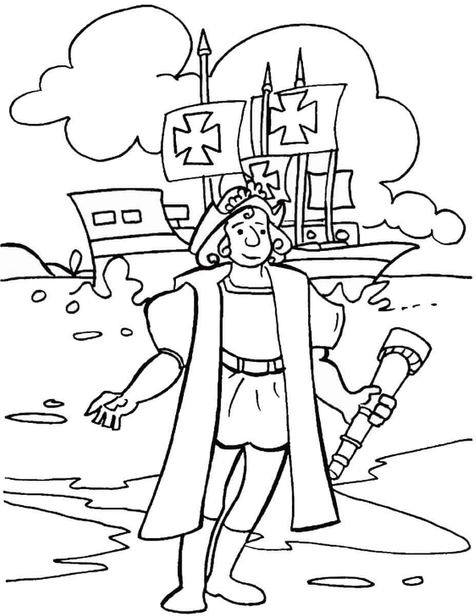 Free Printable Christopher Columbus Coloring Sheets