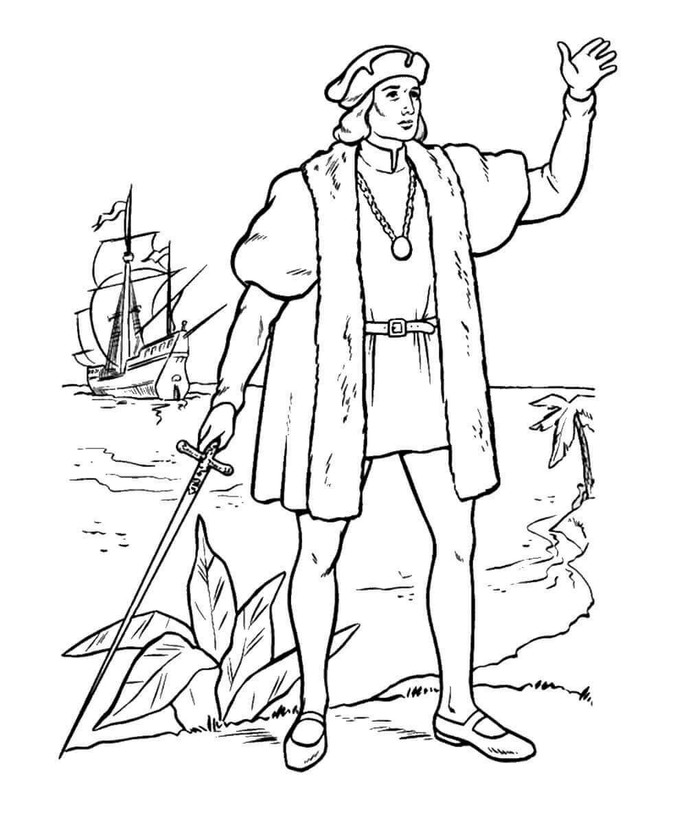 Free Printable Columbus Coloring Images