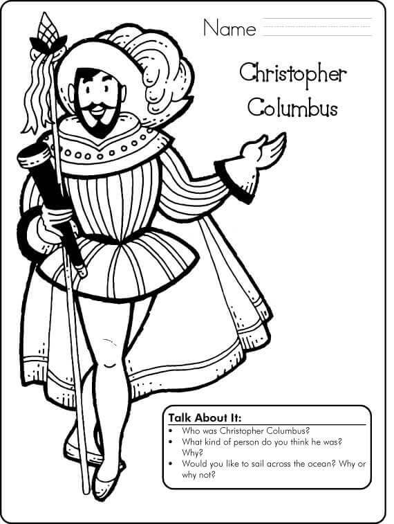 Free Printable Columbus Day Activity Sheets
