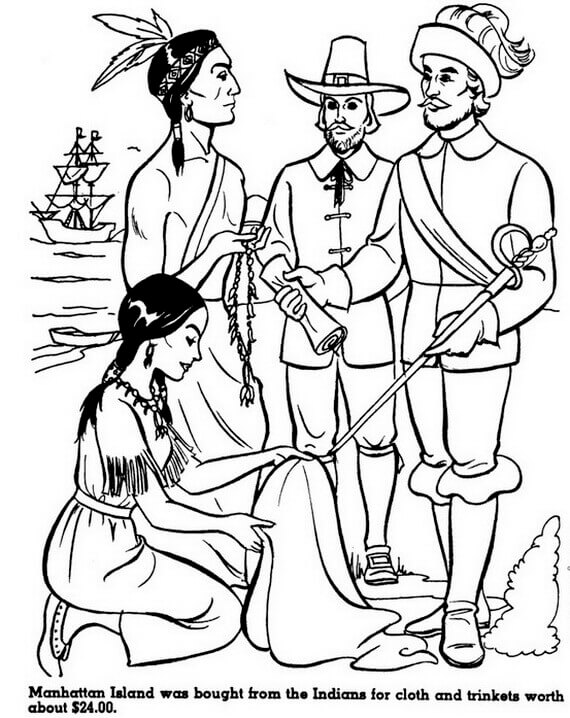 Free Printable Columbus Day Coloring Pages