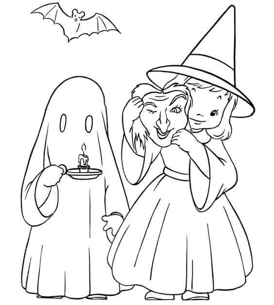 Free Printable Cute Halloween Coloring Pages