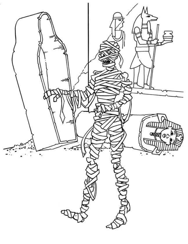 Free Printable Egyptian Mummy Coloring Sheets