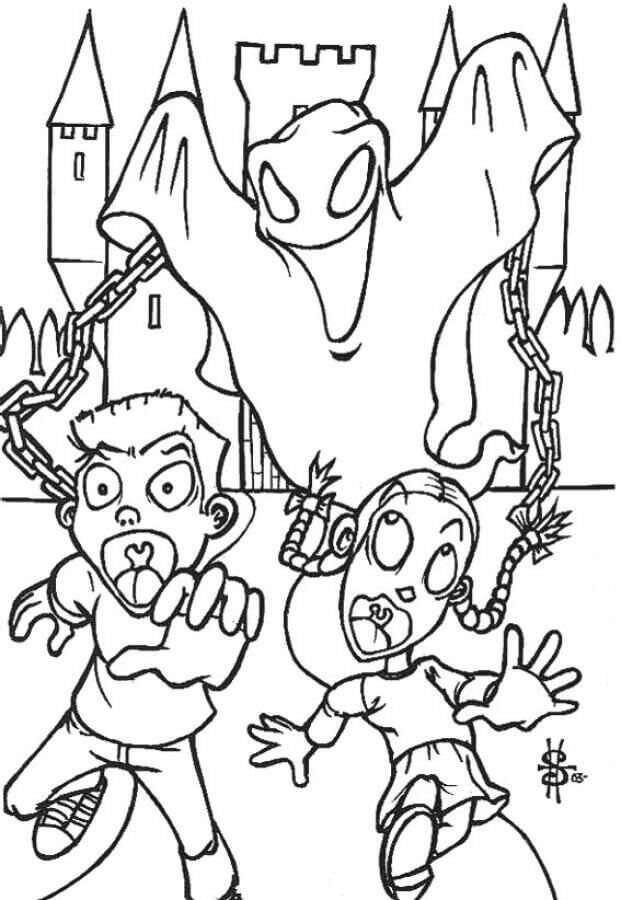 30 Free Ghost Coloring Pages Printable Scribblefun