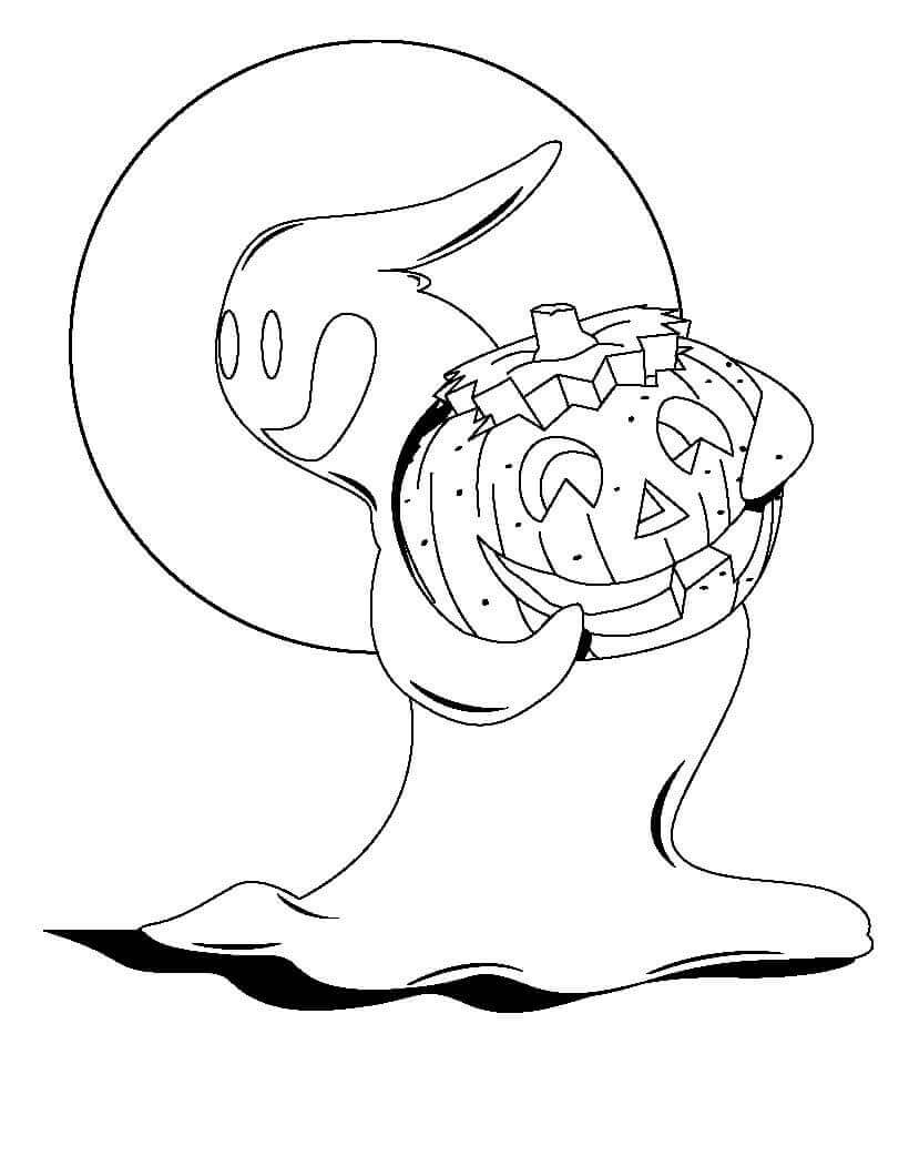 Free Printable Halloween Ghost Coloring Pages