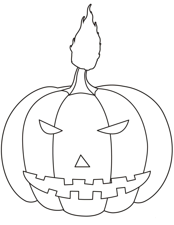 Free printable jack o lantern coloring pages