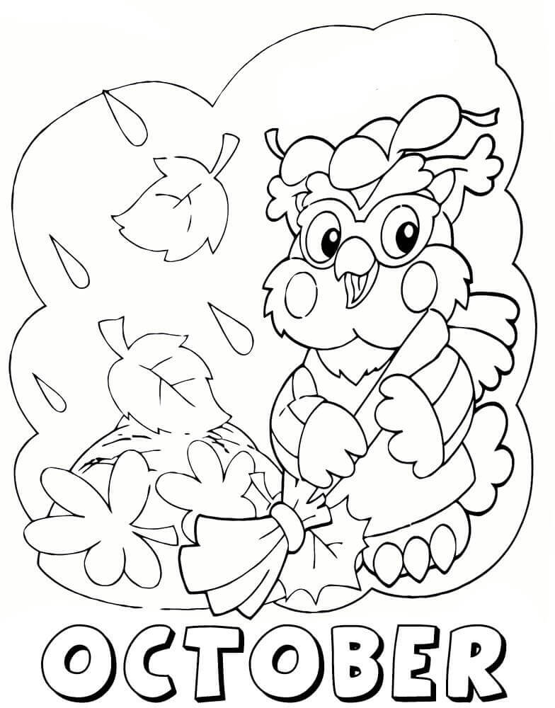 Free Printable October Coloring Pages