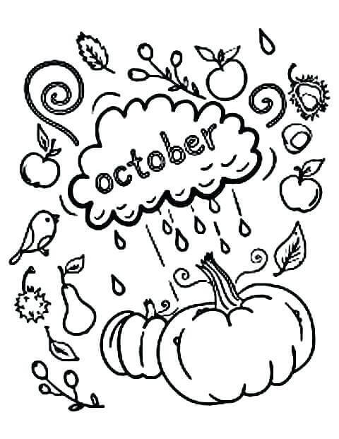 Free Printable October Coloring Sheets