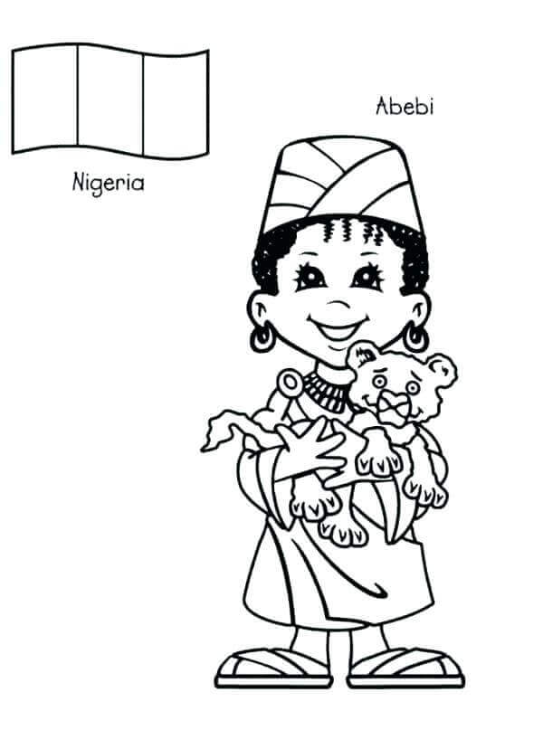 Free Printable October Month Coloring Pages Nigeria Independence Day