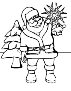 Free Printable Santa Claus Coloring Pictures