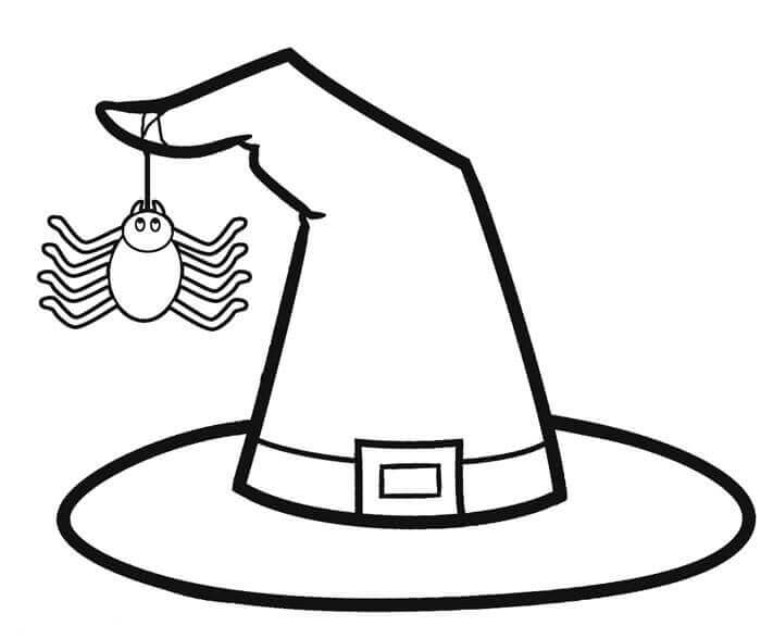 Free Printable Witch Hat Coloring Pages