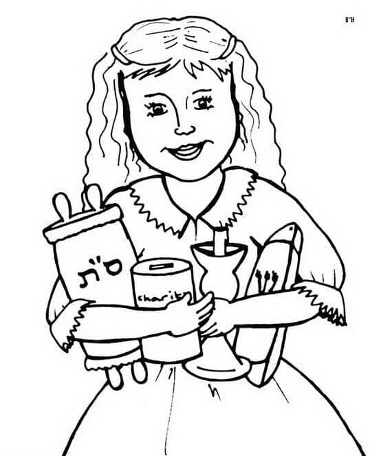 Free Rosh Hashanah Coloring Printable