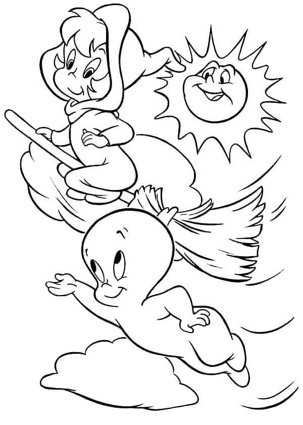 Ghost Coloring Pages For Preschoolers