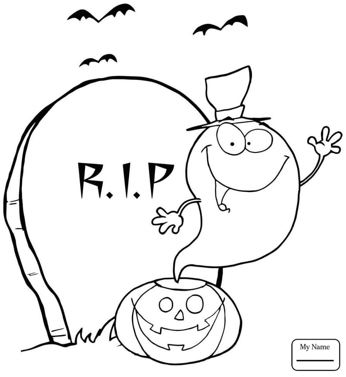 Ghost Coloring Pictures Printable