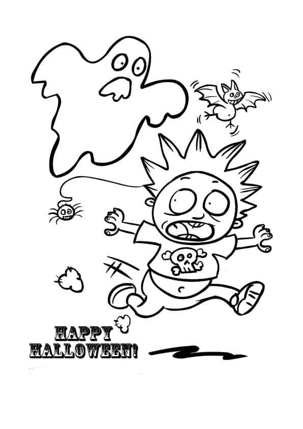 Ghost Coloring Pictures To Print For Kids