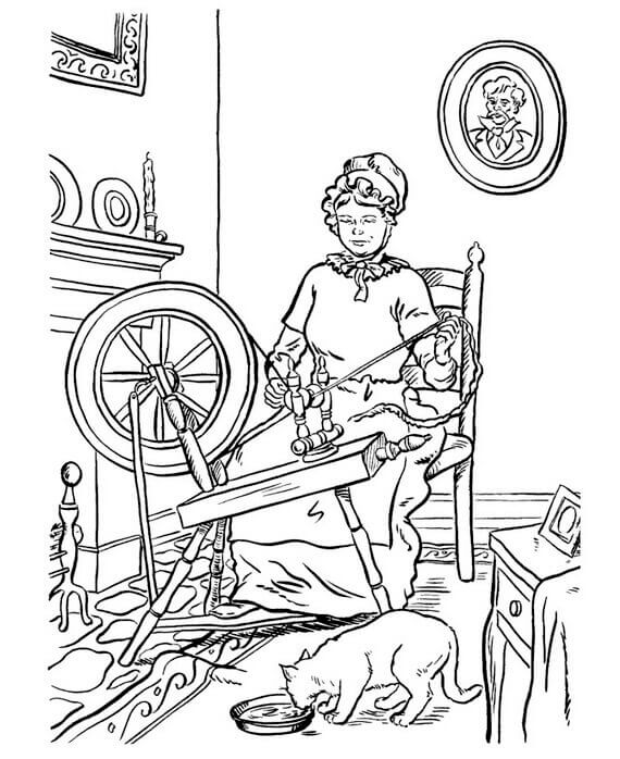Grandma Coloring Pages
