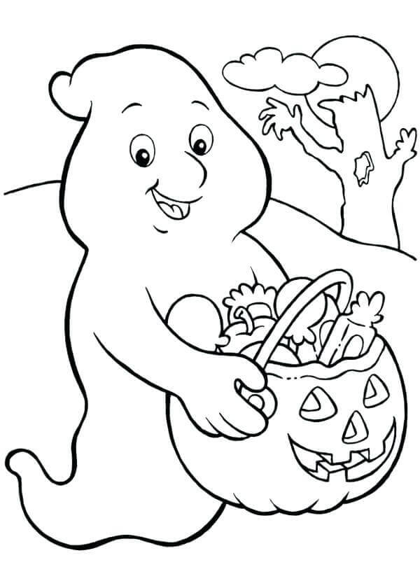 Halloween Ghost Coloring Pages To Print