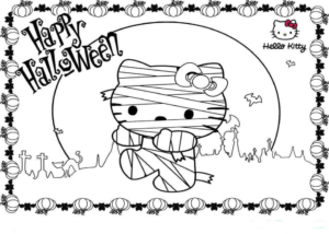 Halloween Mummy Printable Coloring Pages