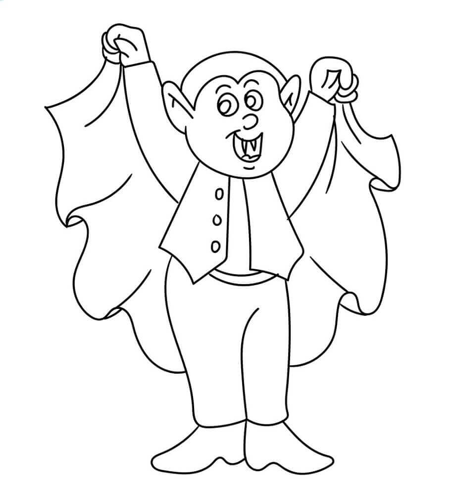 Halloween Vampire Coloring Sheets