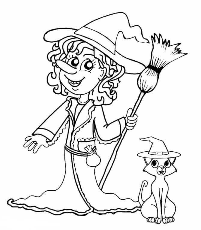 Halloween Witch Coloring Images
