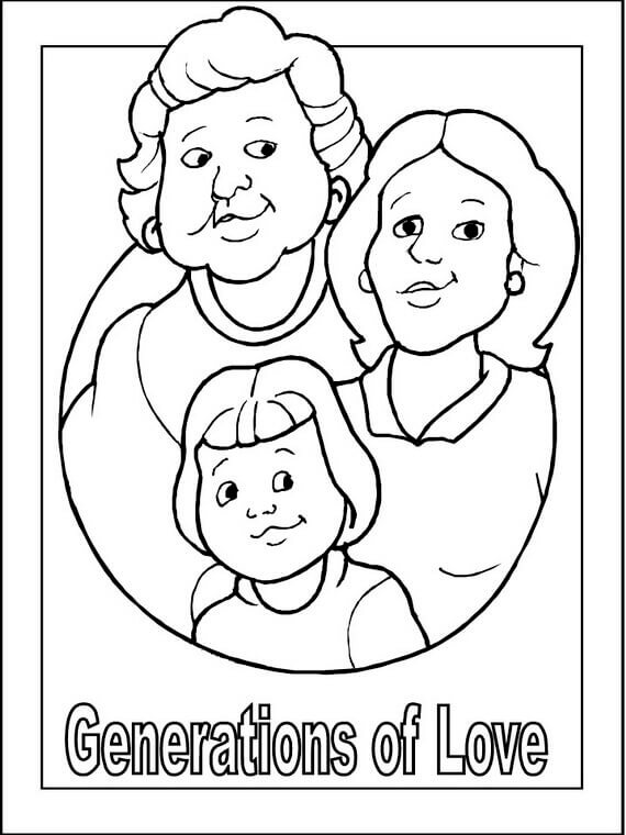 I Love My Grandparents Coloring Sheets